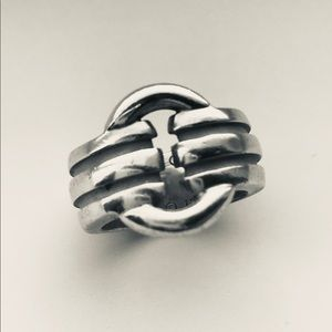 Tiffany & Co. Atlas Groove Buckle Band Ring S/S
